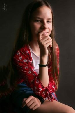 studyjny portret nastolatki